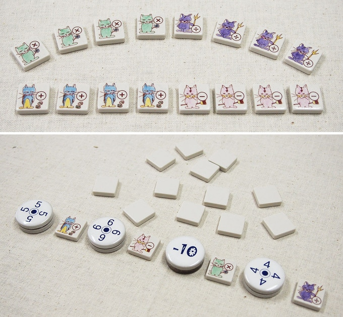 Above photo is 16 tiles set and standard size pieces sample.