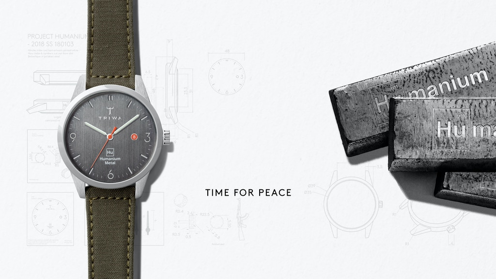 Swedish Designed Watch Made from Destructed Illegal Firearms