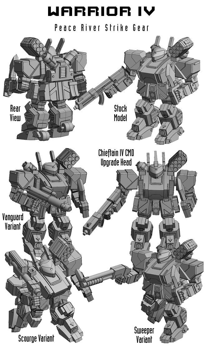 Peace River Warrior IV Model Images.