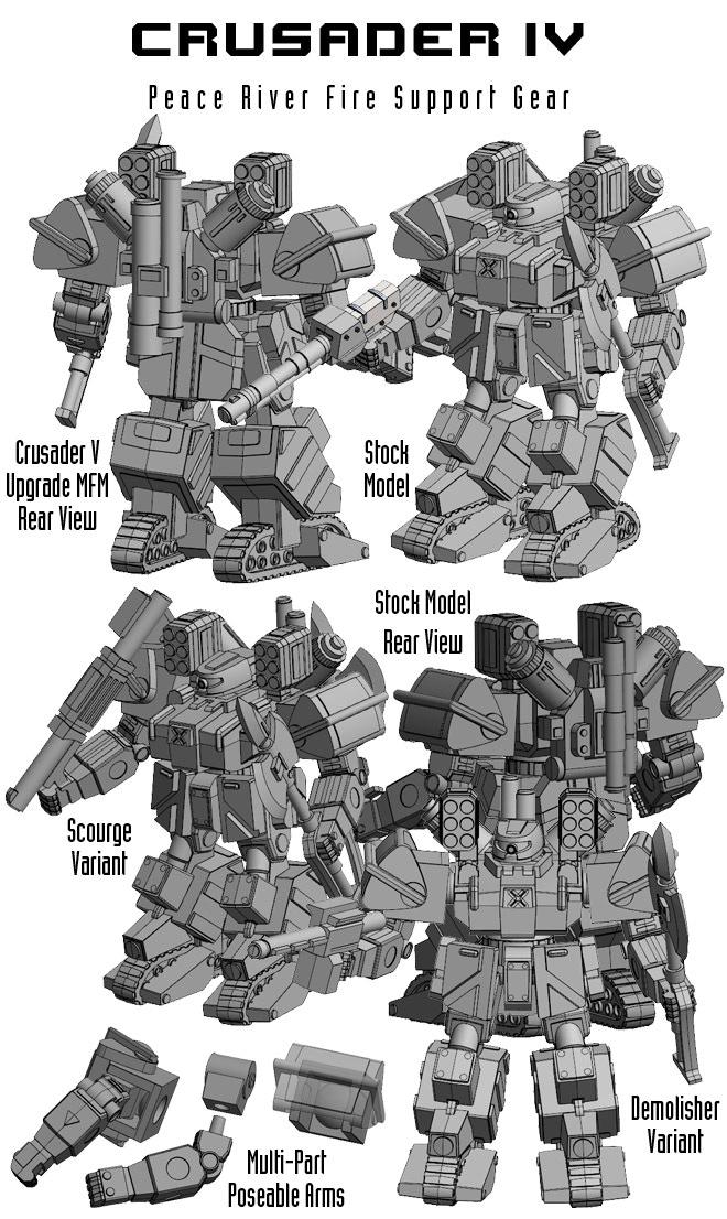 Peace River Crusader IV Model Images.