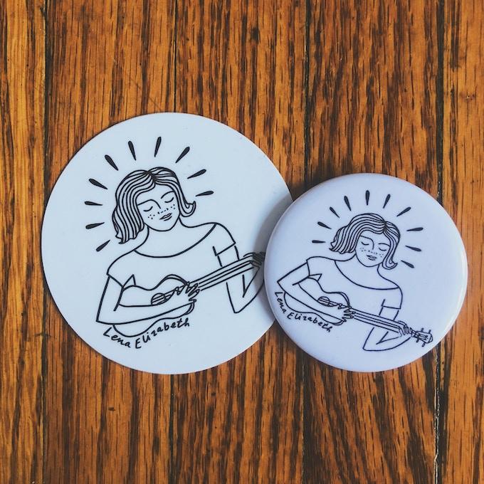 Button & Sticker