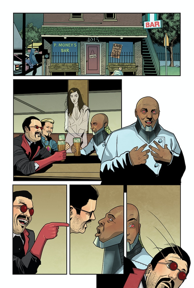Page 16, the villains