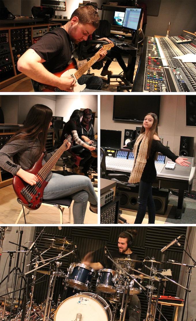 Josh, Andrea, Sara & David at Phase One Studios