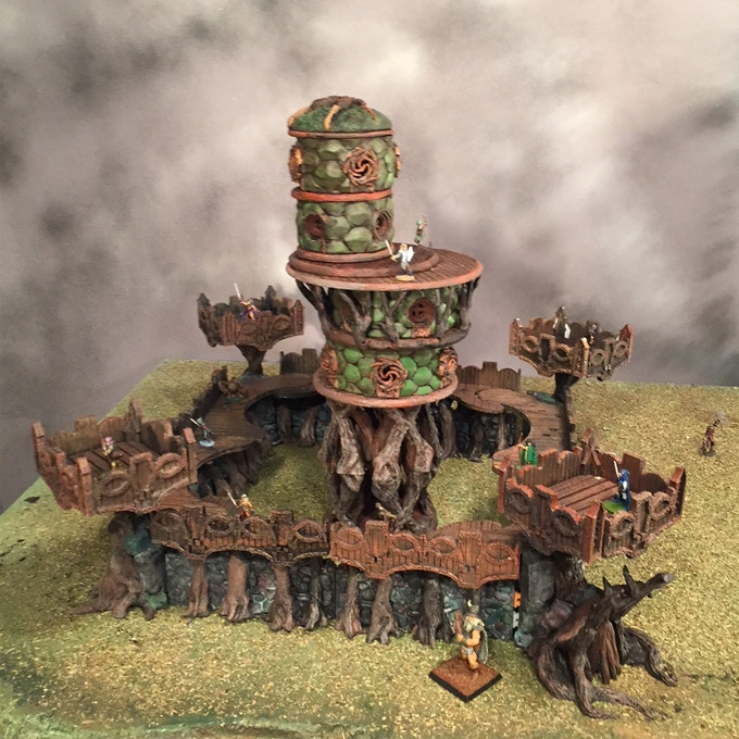 Elf Outpost with Elf Barracks Stretch Goal Update#7