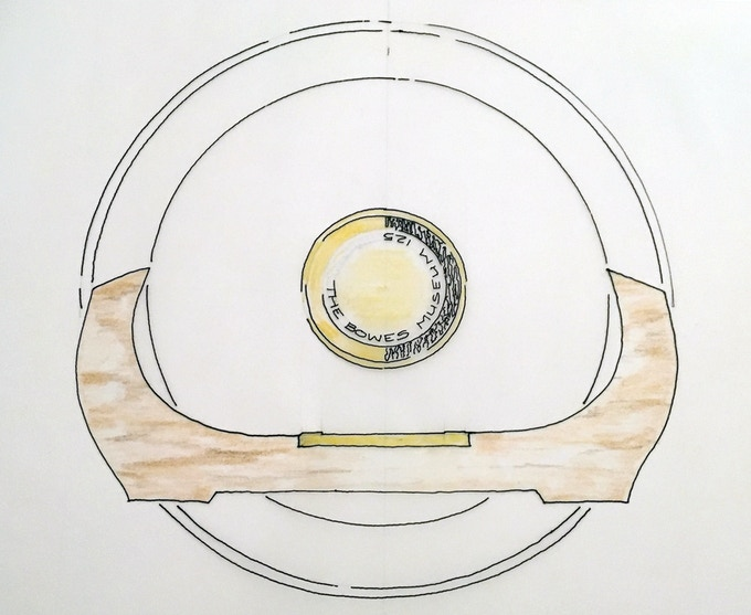 Matthew's sketch of the limited edition hand-turned bowls