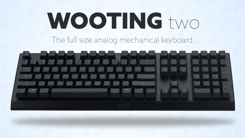 Wooting two - The full-size analog mechanical keyboard project video thumbnail