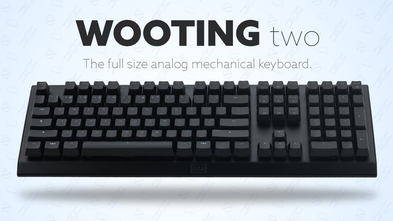 A special thanks to all 906(!) Backers who made the Wooting two a reality!