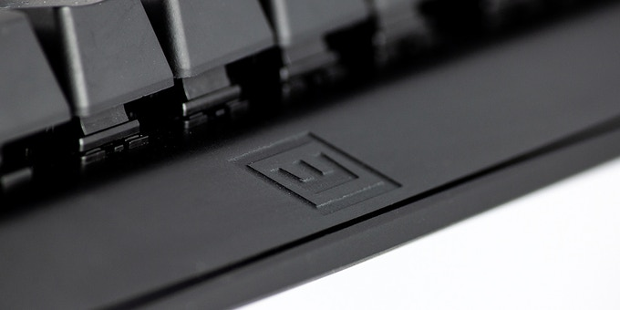 Elegantly embossed logo on an Aluminum 5052 plate.