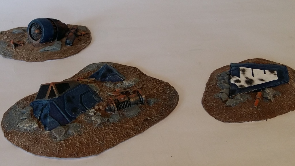 Crashed 28mm Sci-fi Flyer Tabletop Wargaming Terrain