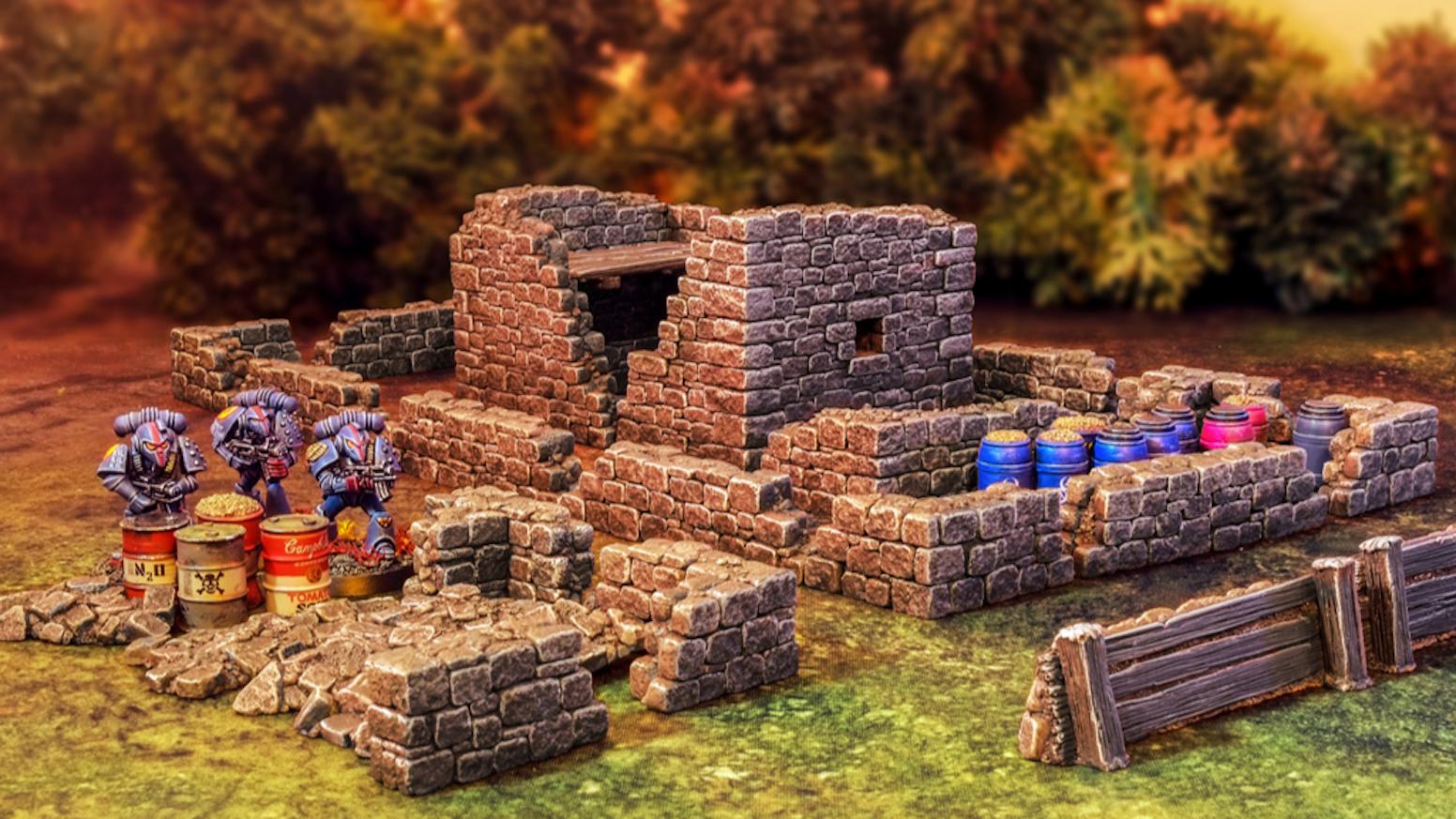 Battle at the Farm - 28mm wargaming terrain by Fogou Models