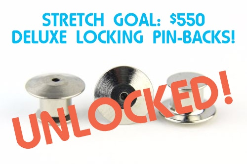 Locking Pin Backs - Now Standard on all pre-orders!