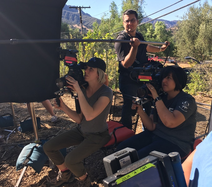 DP Julia Swain and B-Cam Operator Alyssa Bracato