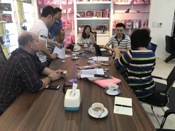 Meeting with our supplier in China