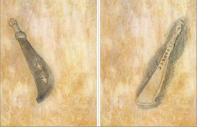 Art Layer:  Each weapon has a mundane version and a legendary version