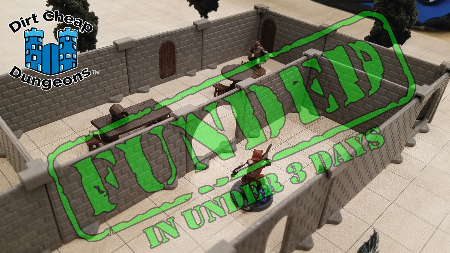 We've developed a modular, portable, durable and AFFORDABLE miniature dungeon system for use with tabletop role playing games.