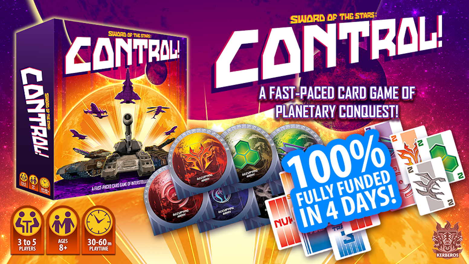 A fast-paced card game of planetary conquest for 3-5 players!