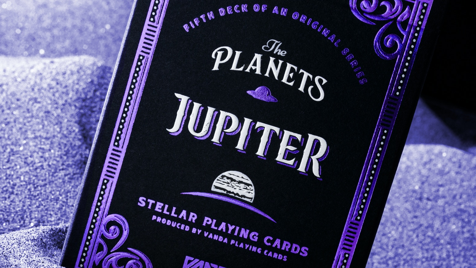 A deck of Stellar Playing Cards — Vanda Artists Series designed by Srdjan Vidakovic.