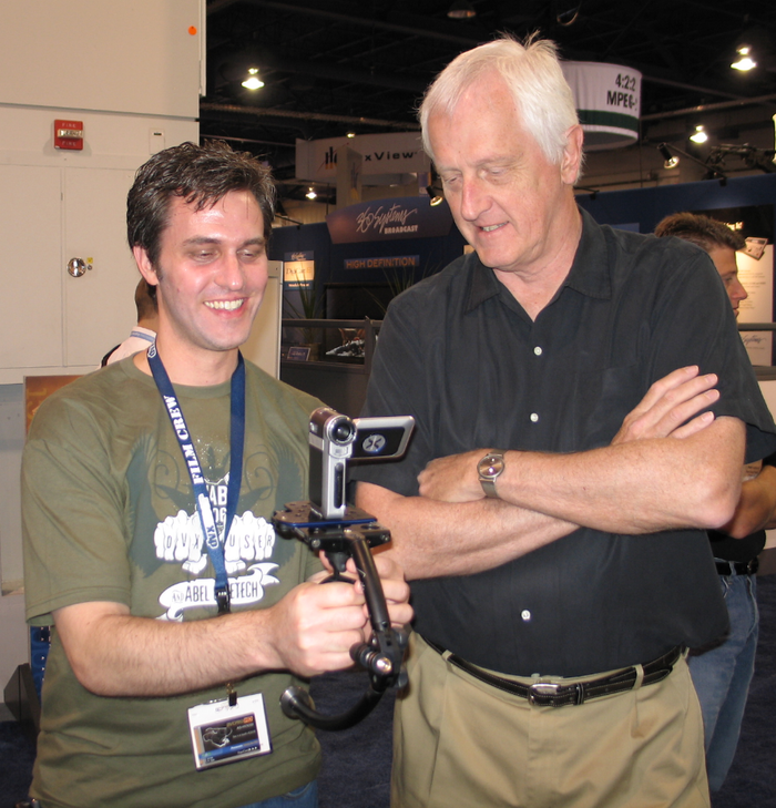 Richard Gale and Steadicam inventor Garrett Brown