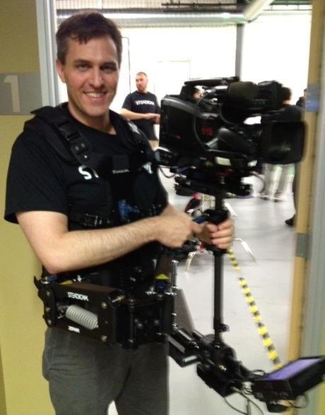 Richard Gale operating a Steadicam Zephyr