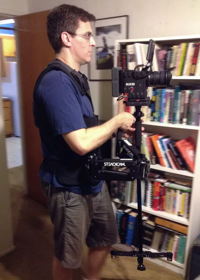 Richard Gale flying a RED Epic camera on the Steadicam Solo