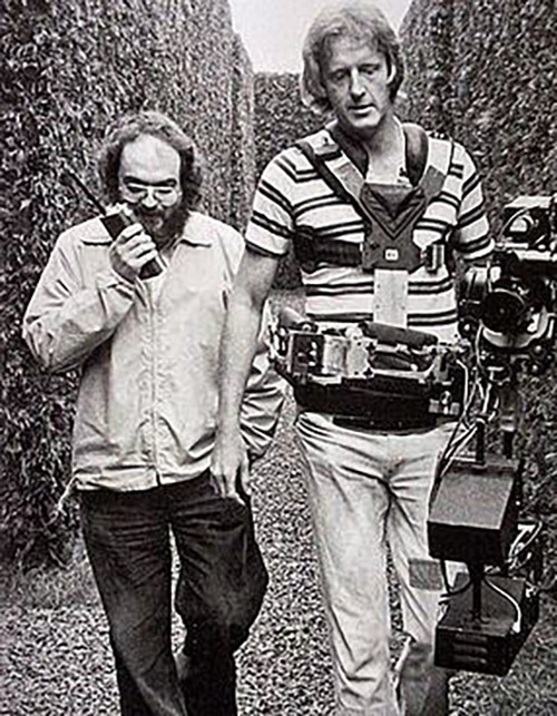 Above: Steadicam inventor Garrett Brown (right) with Stanley Kubrick (left) during the filming of The Shining, one of my all-time favorites. It was Garrett chasing Danny and Jack Torrance through the Overlook Hotel and the hedge maze.