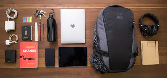 All your daily accessories, and more, fit comfortably in the bag