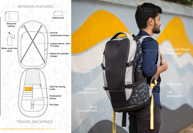 Travel pack features