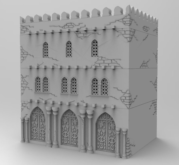 Get stl-file for a traditional house