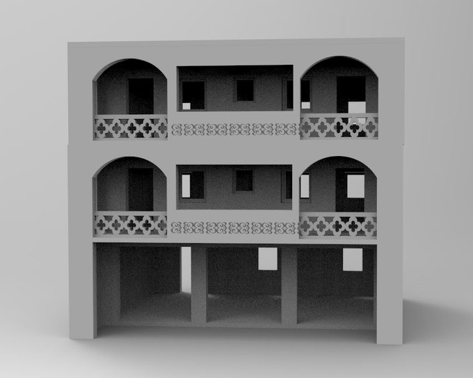 Get stl-file for a modern appartement house