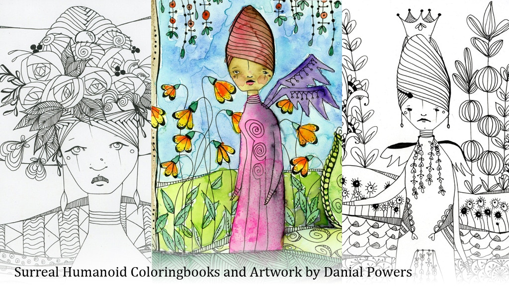 Coloring book: Surreal Humanoids in Nature project video thumbnail