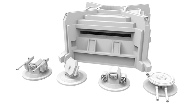 Bunker with easily exchangeable Turrets