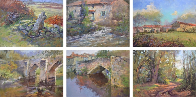 Some examples of my plein air pastel paintings, all done in France winter 2017-18. Backers can expect to receive paintings similar to these