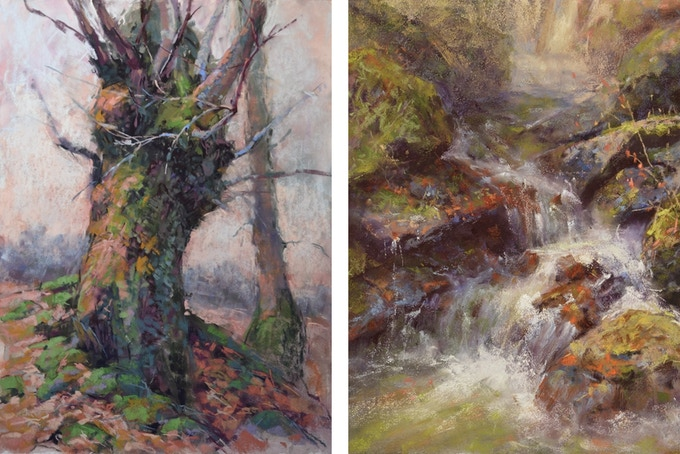 Some examples of my studio paintings in pastel. Backers can expect to receive studio paintings similar in quality and style to these