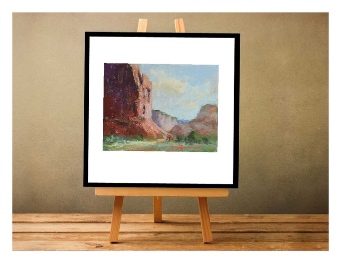 As well as hanging, here's another possible way to display your pastel study once you've framed it!