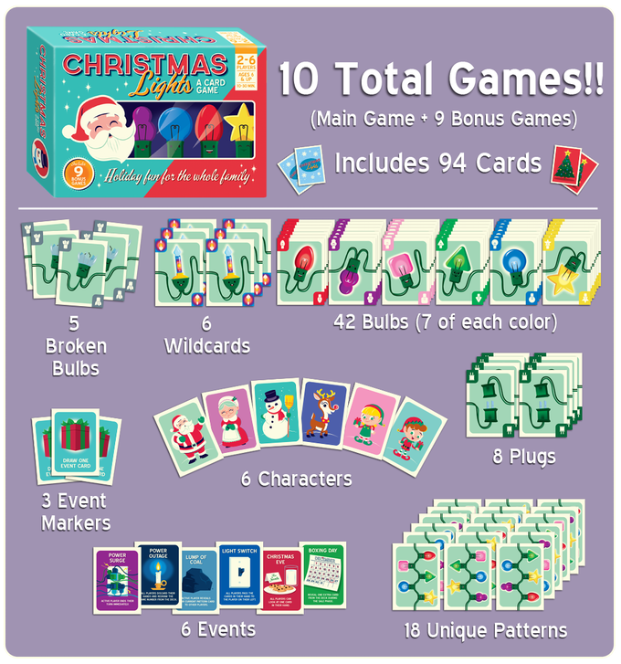 it features the same adorable reindeer artwork from the game you can use it to decorate your own tree or as a deluxe starting - Christmas Card Games