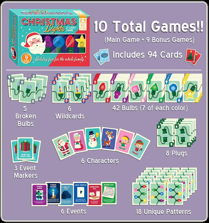 Christmas Lights Card Game By Chad Elkins Kickstarter
