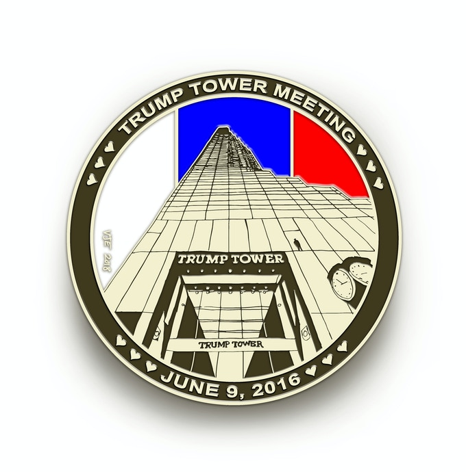 The Trump Tower Meeting Commemorative Coin (front)