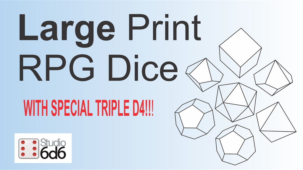 Easy Read Large Print Dice project video thumbnail
