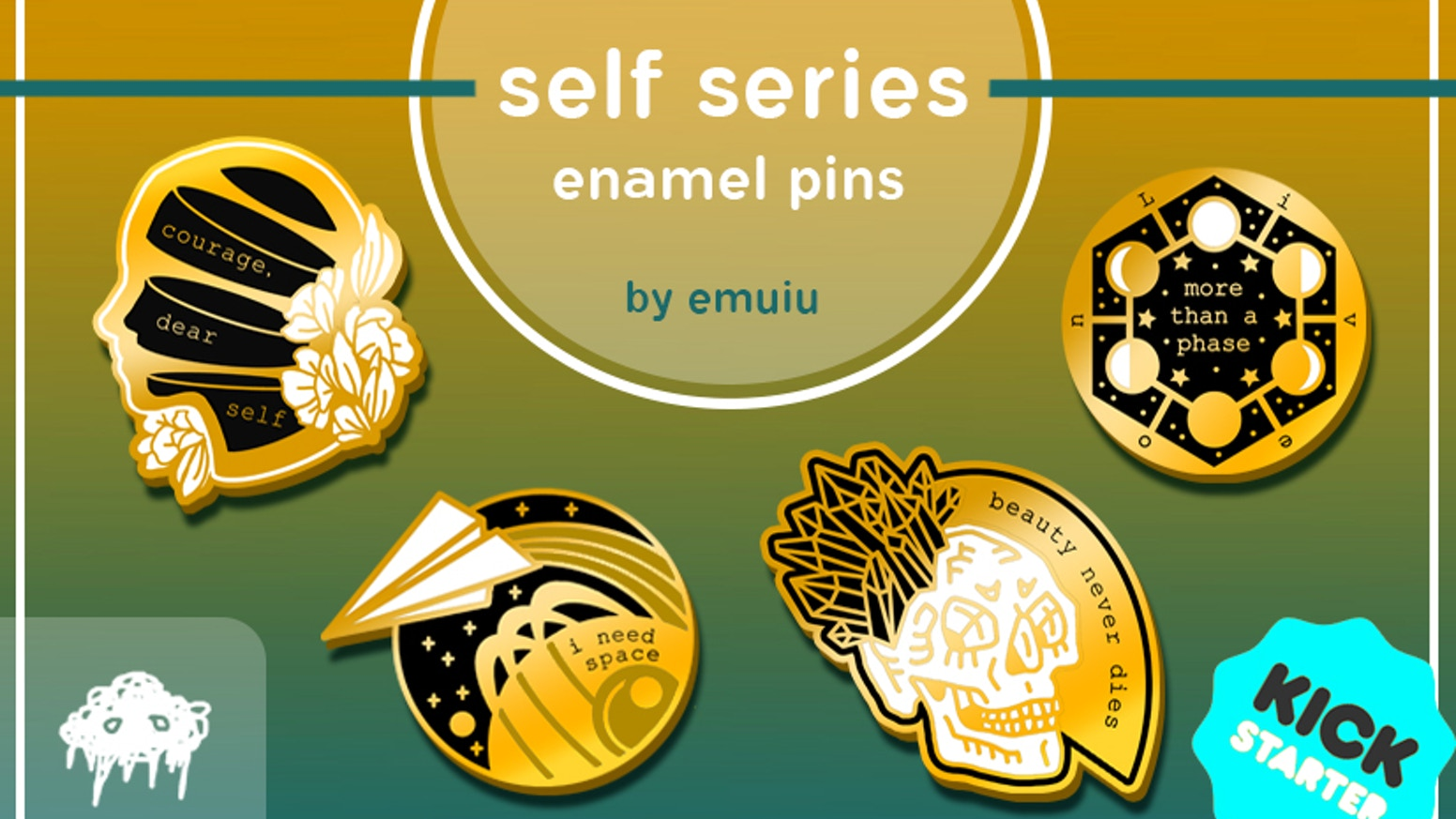 Self Series Enamel Pins By Emu Her Faq Kickstarter
