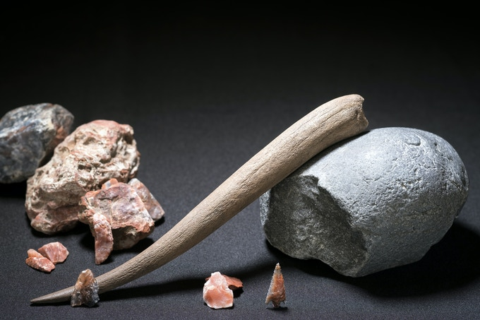 discovery of the tools of a preinca craftsman (T. Seguin © ULB)