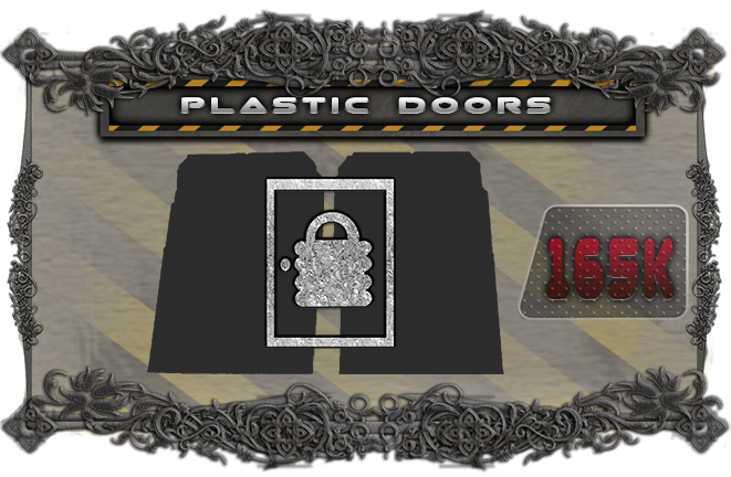 Upgrade all the cardboard doors to plastic