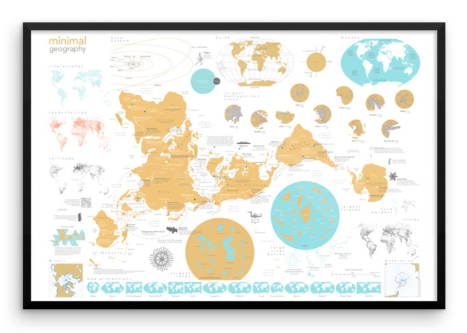 Minimal Geography poster map