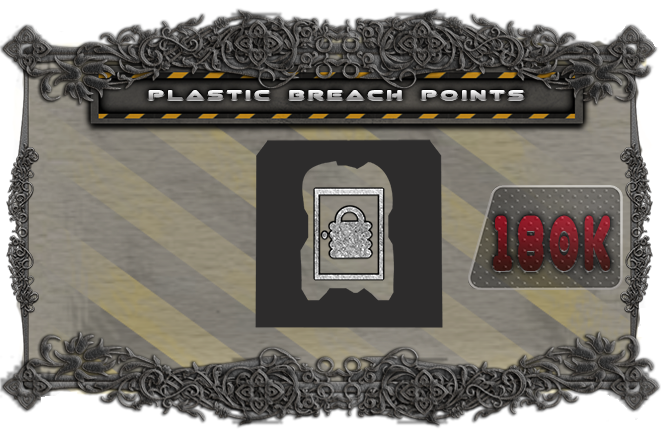 Upgrade the cardboard breach points with a plastic miniature