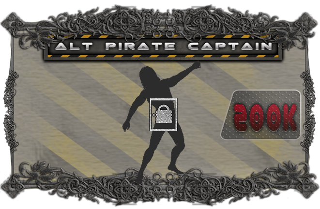 Alternate Pirate Captain.  Add another pirate captain model and his own stat card!