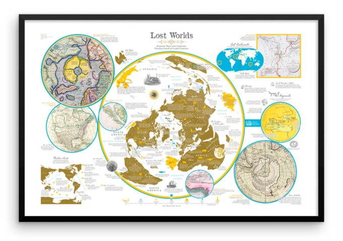 Lost Worlds poster map. Example of framing.