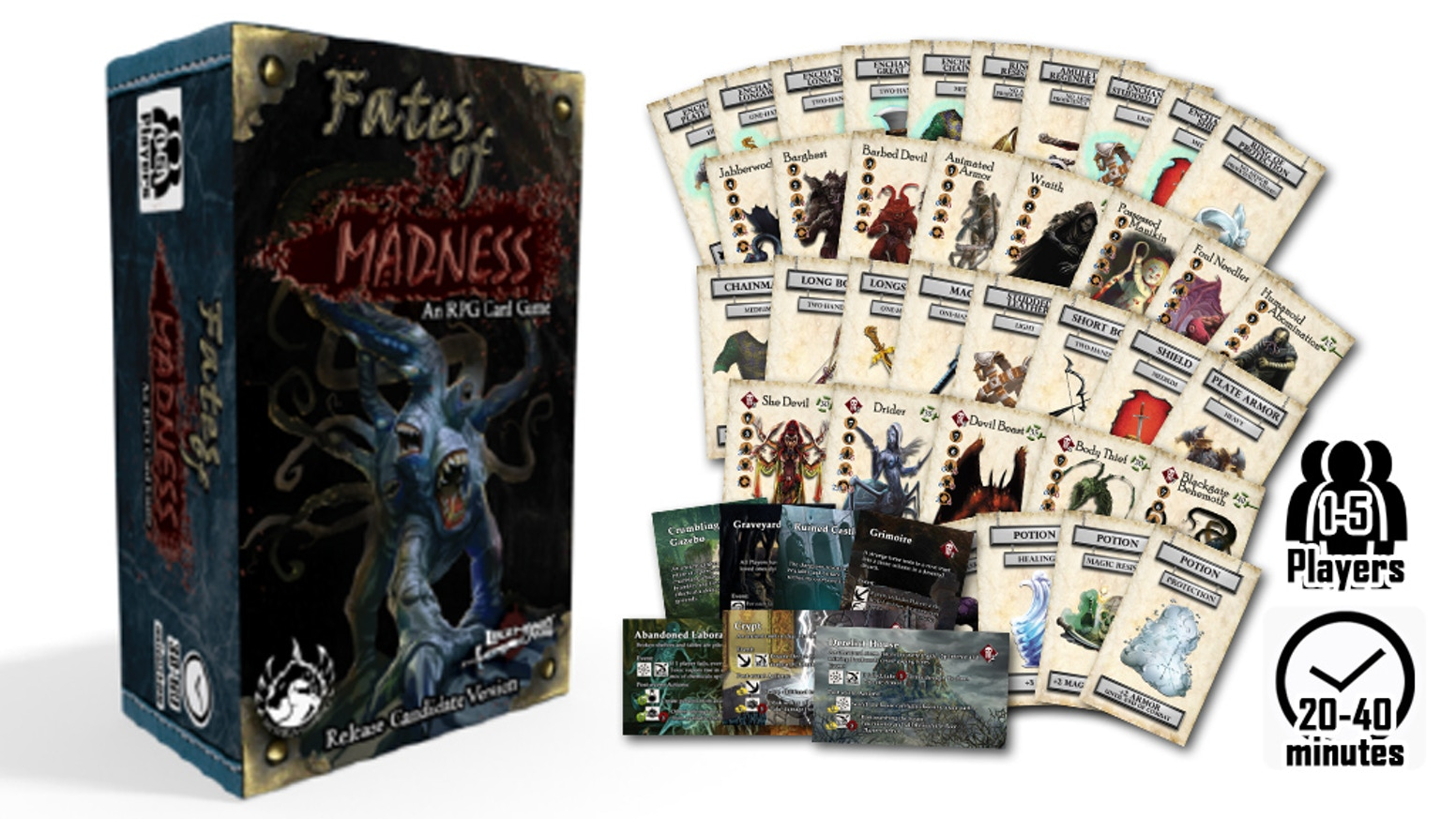 A cooperative RPG adventure card game based on the Gothic Campaign Compendium. Plays Solo or up to 5 Players!