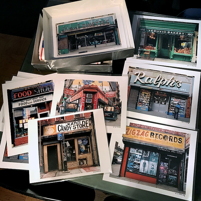 Your choice of 7 different Archival Signed Store Front prints in 11 x 14 inch size (the same choices are available in 8 x 10 inch size). All photos are printed on Kodak Professional Endura Luster Paper and signed by us.