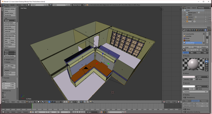 All scenes are being designed from the ground up in Blender.