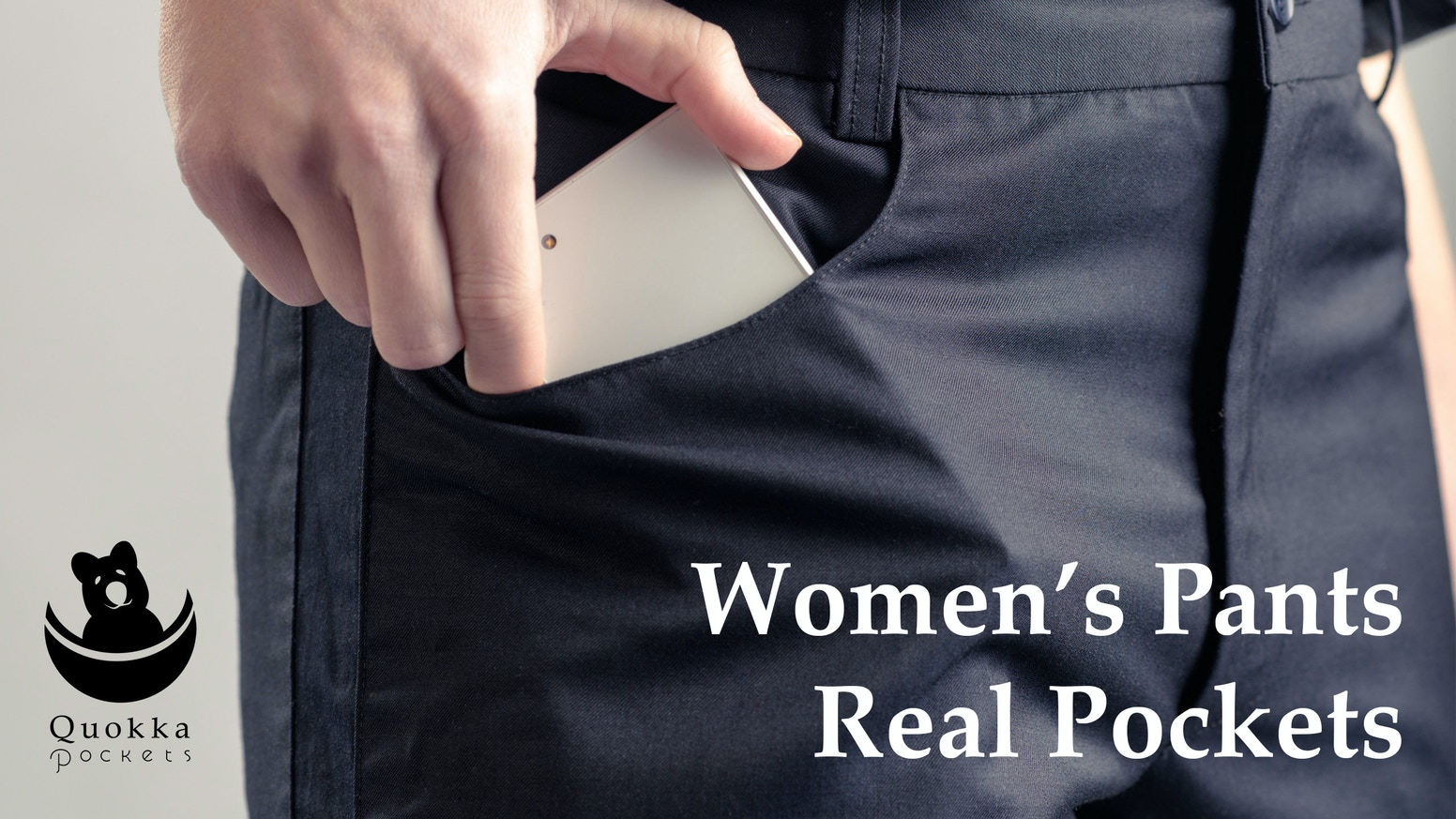 We believe women deserve pants with pockets big enough to put a phone in. Or your hand. Or both at the same time. So we're making them.