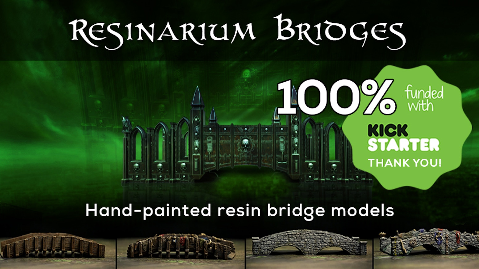 Superb quality resin bridge scenery for heroic scale games, hand-painted and ready to be deployed out of the box!